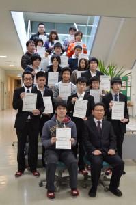 情報処理技術者試験に合格した学生