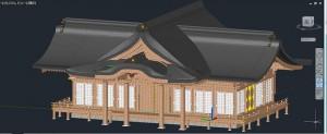 金刀比羅神社社殿の3D